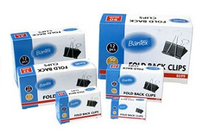 Bantex  Fold Back Clips Value Pack (Original $41.7) 長尾夾優惠套裝 (原價$41.7)