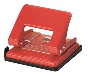 Carl 100XL 2-Hole Punch (Red) 雙孔打孔機 (紅)