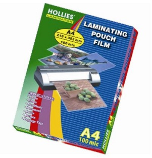 Hollies  Laminating Pouch Film 100mic A4 過膠膠片 (100pcs)