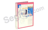 KS20AC A4 可加封面頁 20頁資料簿 - 粉紅 A4 20-pocket Refillable Clear Book with Insert Cover - Pink