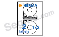 Herma 4471 (CD Rom 116mm) 電腦打印標籤(100張) SuperPrint White Label CDRom116mm 100sh